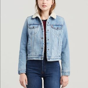 levis denim jacket with sherpa lining